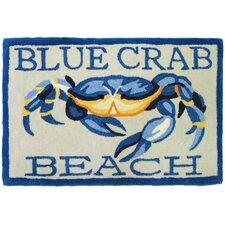 Blue Crab Beach Area Rug