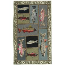 High Country Mountain Trout Area Rug