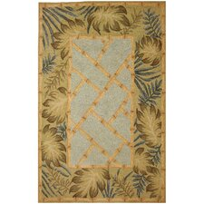Tropical Palms and Bamboo Indoor/Outdoor Rug