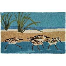 Oceanside Sandpipers Area Rug