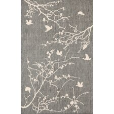 Terrace Silver Plum Blossom Indoor/Outdoor Area Rug