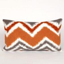 Visions III Zigzag Ikat Polyester Lumbar Pillow