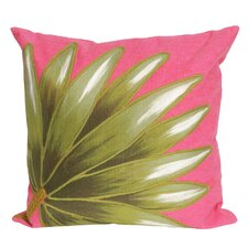 Visions II Palm Fan Throw Pillow