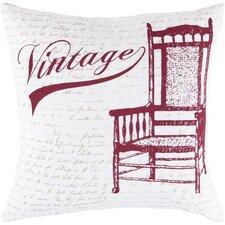Vivacious Vintage Cotton Throw Pillow