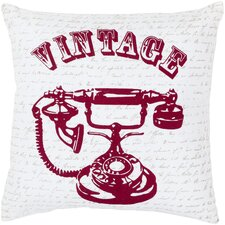 Vivid Vintage Cotton Throw Pillow