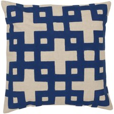 Intersecting Squares Cotton Throw Pillow
