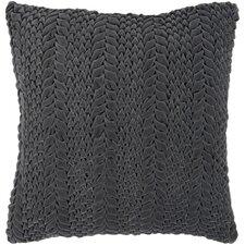 Textured Triangles Cotton Throw Pillow