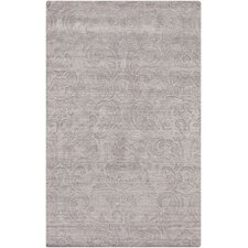 Etching Light Gray Mist Area Rug