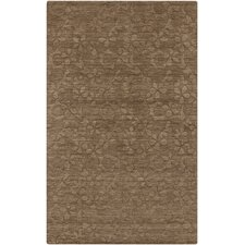 Etching Raw Umber Area Rug