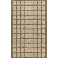 Country Jutes Beige/Olive Geometric Area Rug