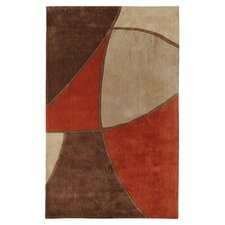 Sawyer Brown/Rust Rug