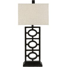 "Madelon 33"" H Table Lamp with Rectangular Shade"