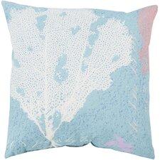 Rain Eye Catching Coral Outdoor Throw Pillow