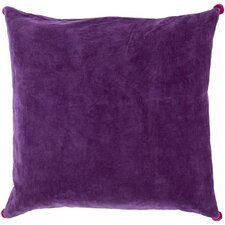 Vivacious Velvet Coton Throw Pillow
