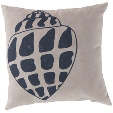 Charming Conch Throw Pillow