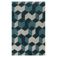Sawyer Teal Blue & Teal Area Rug