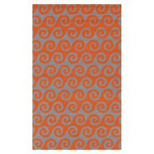 Rain Burnt Orange Area Rug