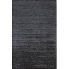 Haize Light Black Solid Area Rug
