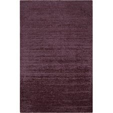 Haize Plum Solid Area Rug