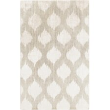 Mugal Light Gray Chic Area Rug
