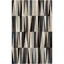 Oasis Gray Geometric Area Rug