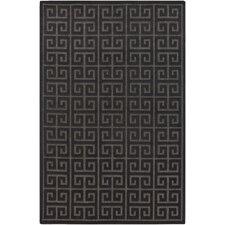 Portera Charcoal Geometric Indoor/Outdoor Area Rug