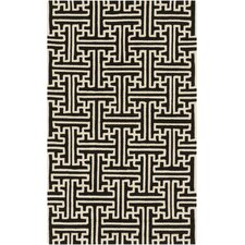 Rain Black Indoor/Outdoor Rug