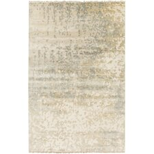 Watercolor Ivory/Slate Solid Rug