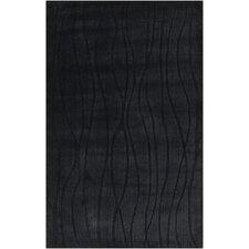 Wave Black Area Rug
