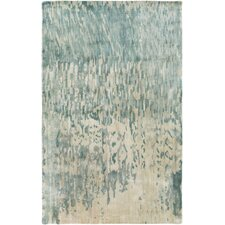 Watercolor Light Gray/Blue Area Rug
