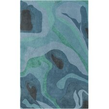Pigments Slate/Green Area Rug