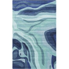Pigments Teal/Blue Area Rug