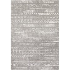 Perla Charcoal Geometric Area Rug