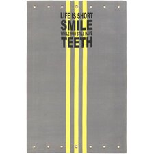 Quote Yellow Area Rug