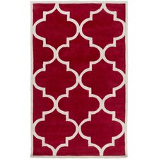 Mamba Cherry/Light Gray Geometric Area Rug
