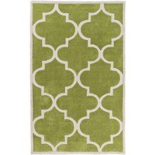 Mamba Light Gray/Lime Geometric Area Rug