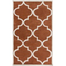 Mamba Light Gray/Rust Geometric Rug