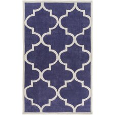 Mamba Iris/Light Gray Geometric Rug