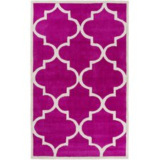Mamba Hot Pink/Light Gray Geometric Rug