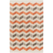Oasis Rust Chevron Area Rug