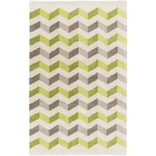 Oasis Green Chevron Area Rug
