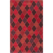 Oasis Burgundy Geometric Area Rug