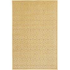 Portera Gold Geometric Indoor/Outdoor Area Rug