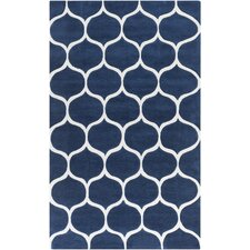 Mamba Navy/Light Gray Geometric Area Rug