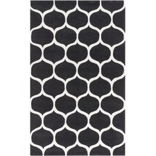 Mamba Black/Light Gray Geometric Area Rug