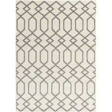 Horizon Grey & Ivory Geometric Area Rug