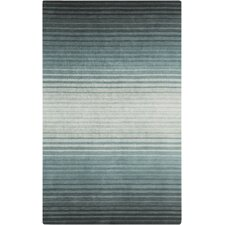 Indus Valley Teal Striped Area Rug