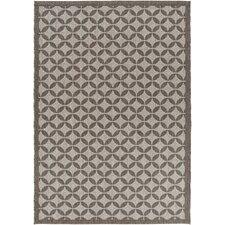 Elements Charcoal Geometric Indoor/Outdoor Area Rug