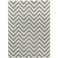 Horizon Gray/Ivory Chevron Area Rug