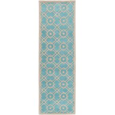 Goa Aqua Geometric Area Rug